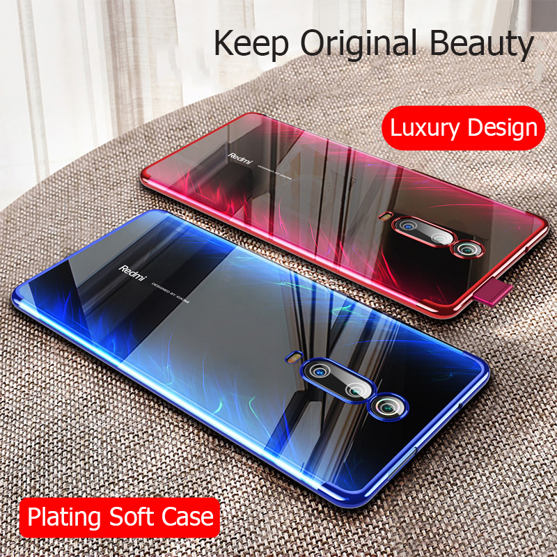 MUCHI For Xiaomi Mi 9T Pro Case Luxury Laser Plating Soft Clear Back Cover For Xiaomi Xiomi Mi 9T Mi9T Pro 9 T Phone Cases image