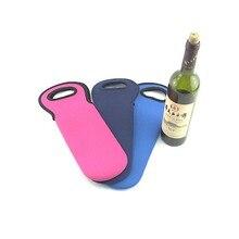 1-2 изготовленный на заказ логотип напечатанный Неопреновая бутылка вина охладитель