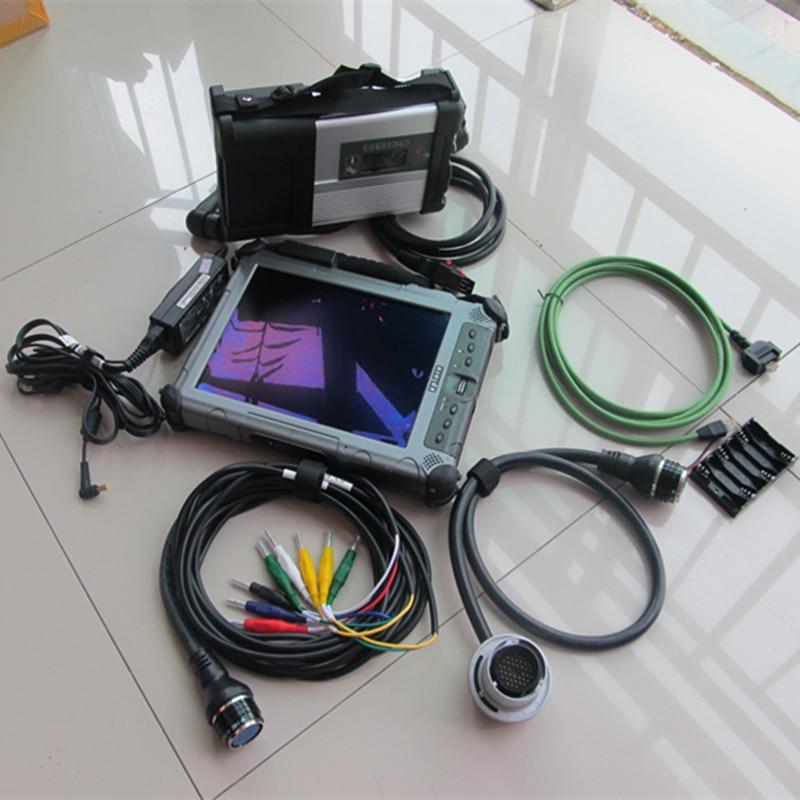 2018 X. Etry + D. Wie + E. Pc Komplette Ingenieur Ssd Mit Mb-stern Sd Verbinden C5 Diagnose Werkzeug + Xplore Ix104 I7 & 4g Laptop & Robuste Jade Weiß