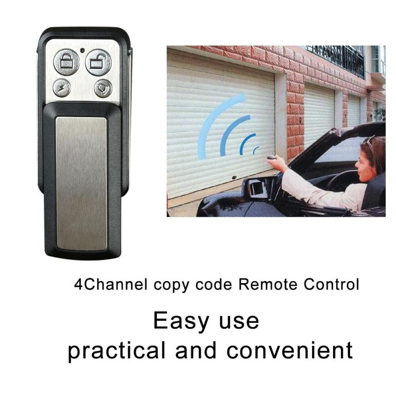 433MHz 4 Channel Remote Control 433 MHz RF Relay Duplicating Cloning Key Fob Garage Gate Door Opener Transmitter Receiver Module universal cloning cloner 433mhz electric gate garage door remote control key fob