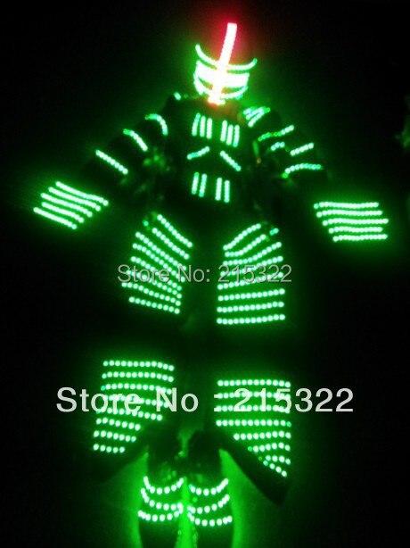 Ходулях Уокер вел Костюмы/загораются EL провода костюм/светло Танцы Костюмы робот костюм