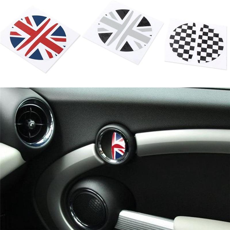 Car Interior Door Handle Stickers For BMW MINI COOPER Countryman R50 R52 R55 R53