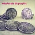 Calidad por mayor Top 50 unids/lote acero dólar Morgan ( 3.8 cm diámetro ) - truco de magia, etapa, close up, moneda, mentalismo, ilusión, accesorios