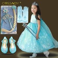 3-10 Anni Ragazza Snow Queen Elsa Principessa Tutu del Vestito Della Caramella Estate Pageant Ragazze Rapunzel Promenade Festa di Compleanno Abbigliamento bambini