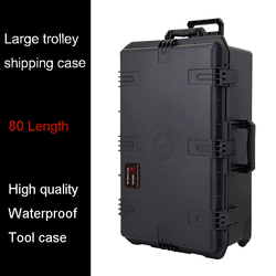 Wasserdicht werkzeug fall trolley versand fall 802*521*301mm anzahlung box Auswirkungen Kunststoff toolbox kamera fall ausrüstung box mit schaum