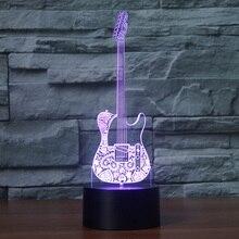 3D Illusion LED Creative Guitar style Night Lamp