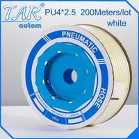 200m/piece High Quality Pneumatic Hose PU Tube OD 4MM ID 2.5MM Plastic Flexible Pipe PU4*2.5 Polyurethane Tubing