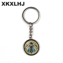 XKXLHJ 2 colors / fashion explosions Andreas Preis animal art pattern key chain men and women key chain car accessories gift dice pattern car key chain