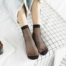 Women Girls Sexy Black Hollow Out Breathable Mesh Fishnet Socks Female Ankle Socks M34