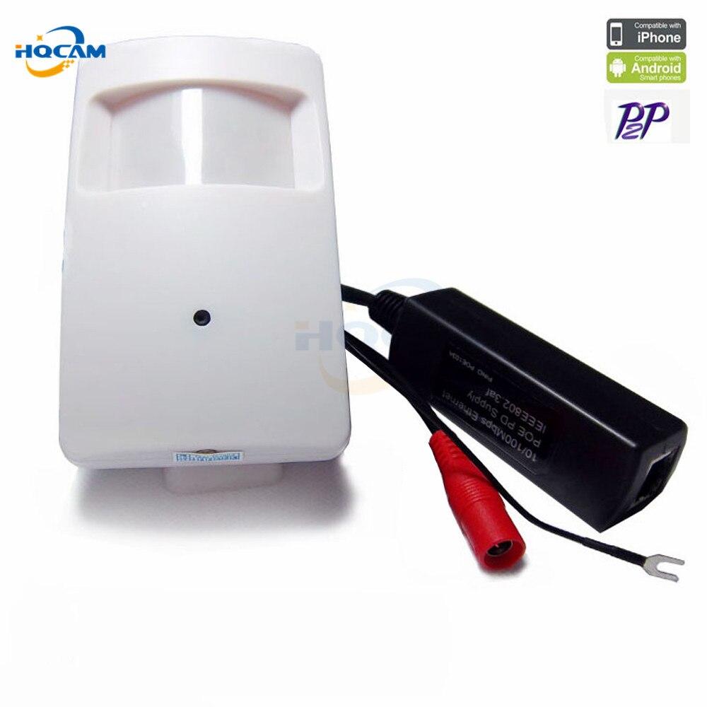 Hqcam 1080 P POE IP Камера Onvif 2.0 P2P plug and play мини ПИР мини POE Камера PIR Стиль движения детектор мини POE Камера