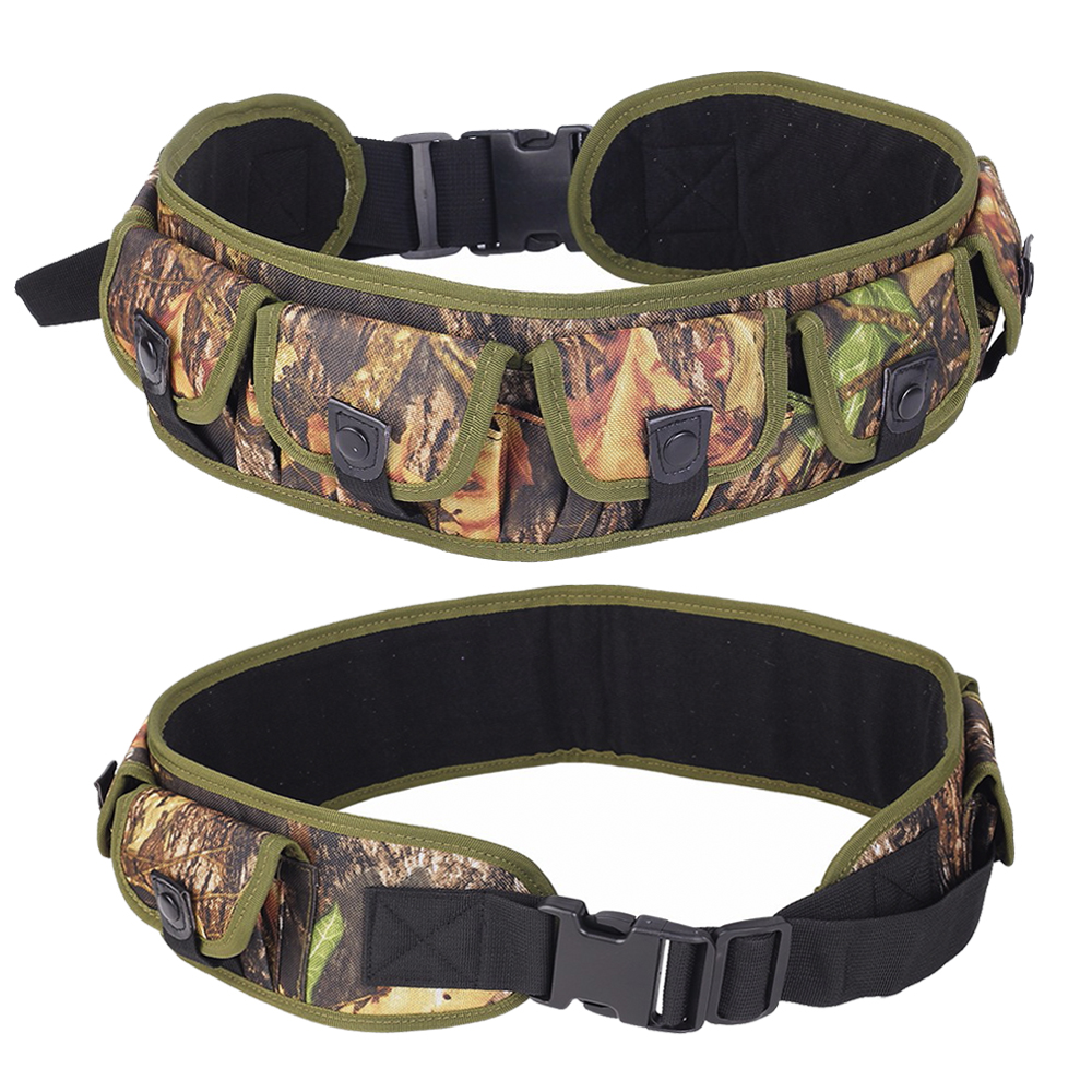 Hunting Shotshell Reload Holder Molle Waist Pouch 12/20 Gauge Cartridge 30 Rounds Ammo Bandolier Belt With 7 Pockets