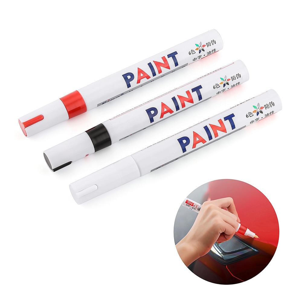 5 Color Car Paint Pen Painting Waterproof Car Wheel Tire Oily Mark Pen Auto Rubber Tyre Tread CD Metal Permanent Paint Marker
