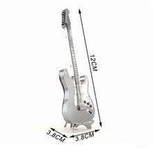 3pcs/lot Guitar Puzzle 3D Metal Puzzles Model Musical Instrument Toys For Kids With Retail Box Education Toy 12*3.8*3.8cm