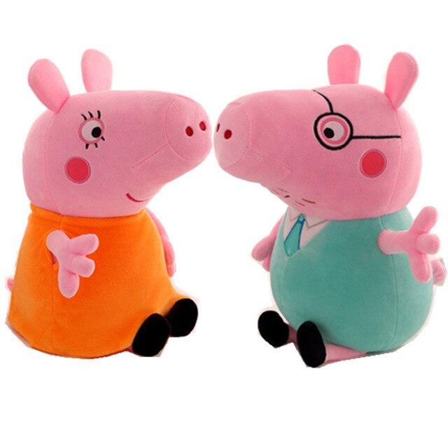 Genuine Peppa pig PORCO cor de rosa de Pelúcia anime Toyshot venda Macio Stuffed Animal dos desenhos animados Boneca Para Presente das Crianças