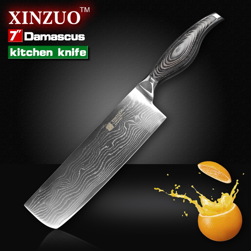 7 inch chef Kitchen font b knife b font 73 Layers VG10 Damascus Steel kitchen font