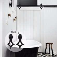 купить LWZH American Style 6FT 7FT 9FT  Sliding Barn Door Hardware Kit Black Rhombus Shaped Hangers for Single Door Closet Track Set дешево