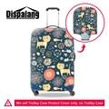 Dispalang милый мультфильм рисунок защитный чемодан обложка для 18 до 30 дюймов марка дизайнер животных эластичный стрейч камера охватывает