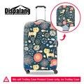Dispalang bonito dos desenhos animados desenho de proteção tampa da mala para 18 a 30 polegada marca designer animal elastic estiramento bagagem covers