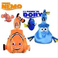 Nuevos niños Nemo Mascotas traje Finding Nemo Fish traje enfant Mascotas te lindo bebé Clownfish animal de mar Mascotas vestido de lujo para