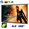 150 inches 4:3 Electric Projector Screen Motorized pantalla proyeccion for LED LCD HD Movie Projection Matt White