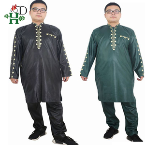 Image 4 - H&D african dresses for men Dashiki mens african clothing bazin outfit male tops pant suits 2 pcs Long Sleeves Shirt Plus size