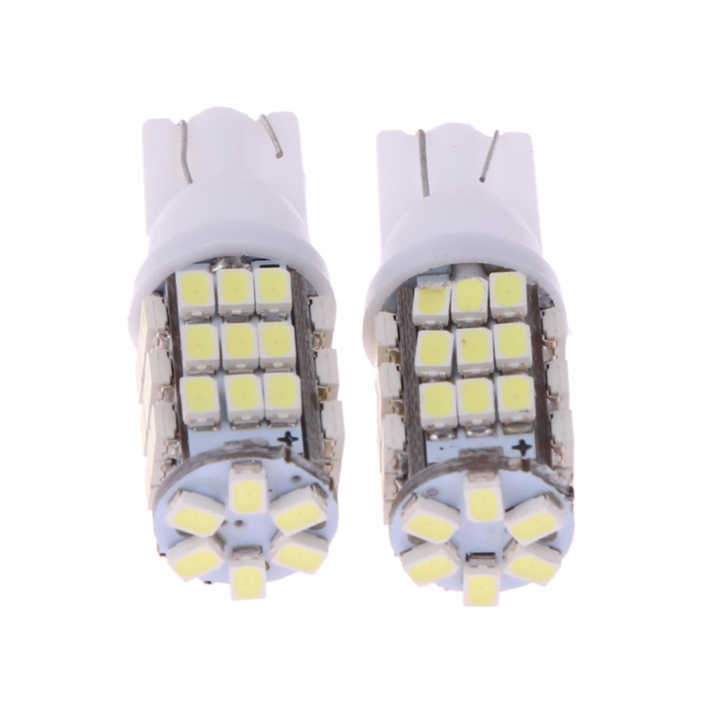 2Pcs Car Interior Light Bulb W5W T10 1206 42 SMD Auto Led Instrument/Parking/License Pla ...