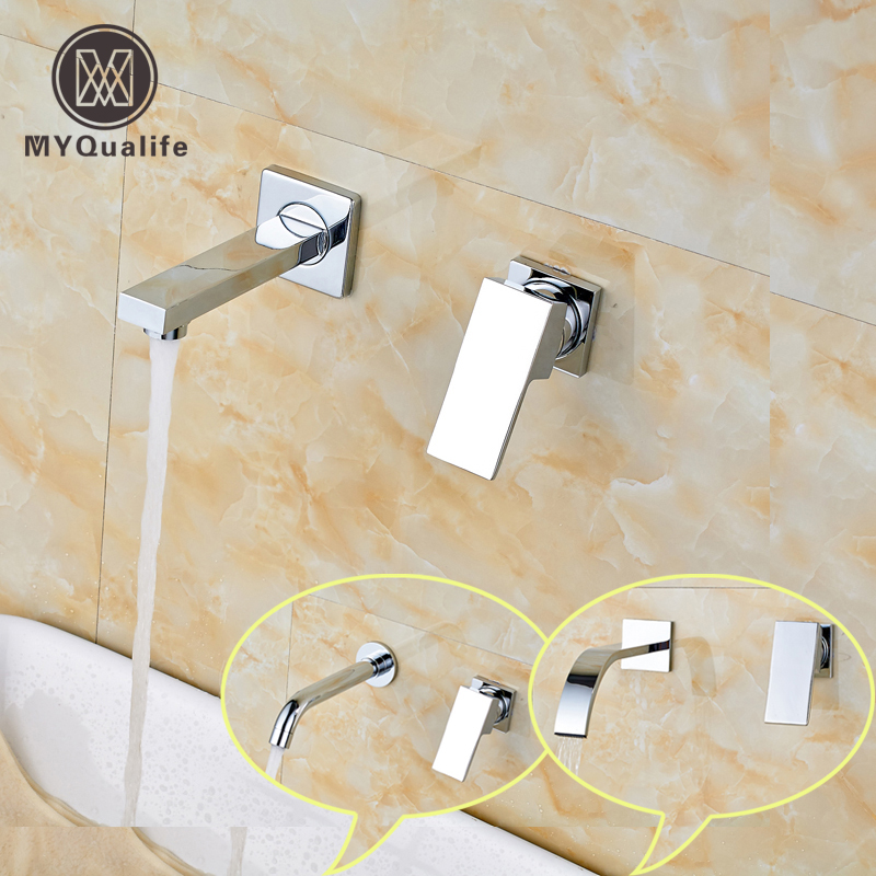 ①Envío libre latón doble agujero lavabo cromo grifo montado en la ...
