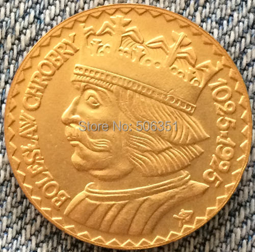 24-K Gold plated 1925 20 Zlotych Poland coins copy