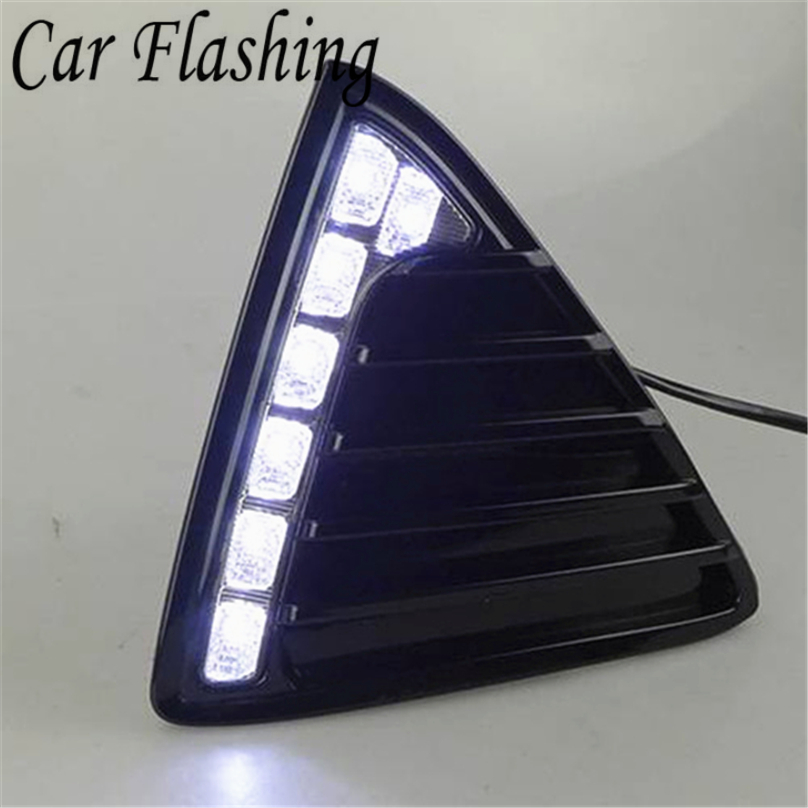 Car Flashing for Ford Focus 3 2012 2013 2014 LED DRL Daytime Running Light Daylight Waterproof
