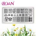 1 UNID BQAN Nueva Moda Nail Art Sello Plantilla de Diseño de La Flor de Clavo Que Estampa Las Placas de Imagen XY-J11