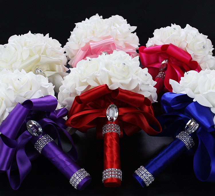 2016-Artificial-White-Royal-Blue-Rose-Flowers-Bridal-Bouquet-With-Rhinestone-Crystal-Bouquets-For-Weddings-Wedding (5)