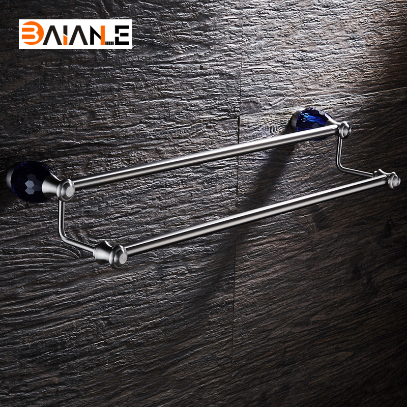 Wall-Mounted Towel Bar Stainless Steel Towel Rack Bathroom Towel Holders Double Rails Bath Storage Shelf Bathroom Accessories bosch msm 2410 p clevermixx fun page 8