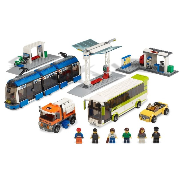 Public Transport Compatible City Town 8404 Building Blocks Bricks toys for Childrens Model Kid 968Pcs