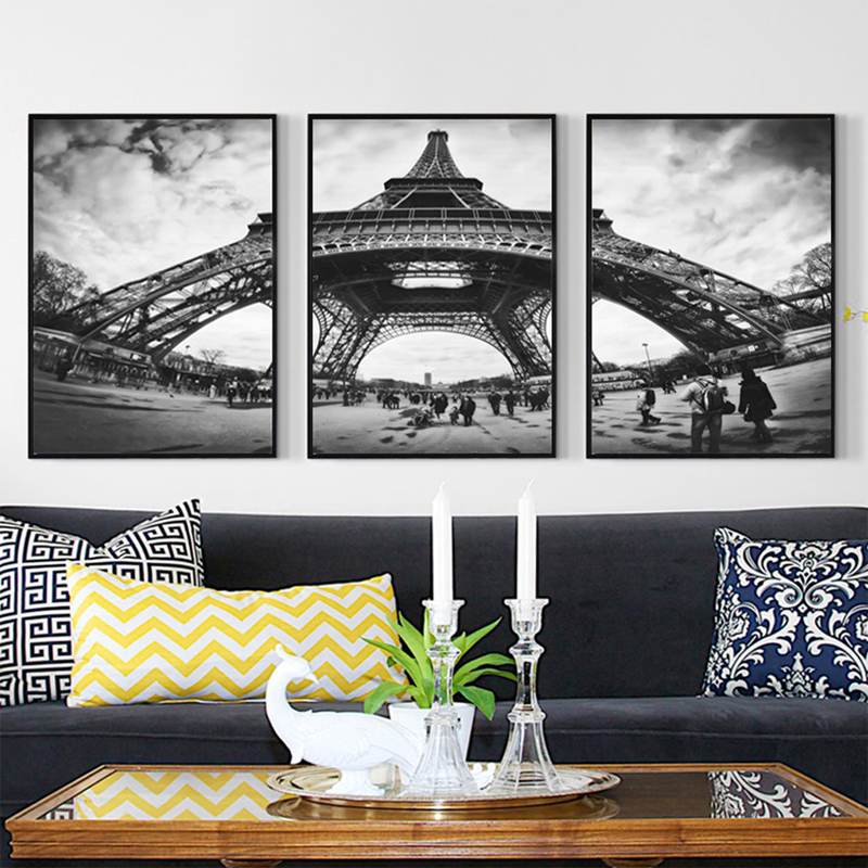 Paris Canvas Wall Art Black And White: Wall Art Canvas Posters And Prints Nordic Black And White