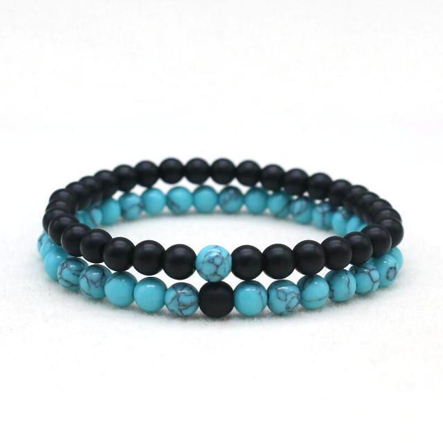 acheter bracelet couple black and white