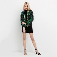 Casual Long Sleeve Street Wear Green Bomber Jackets For Women