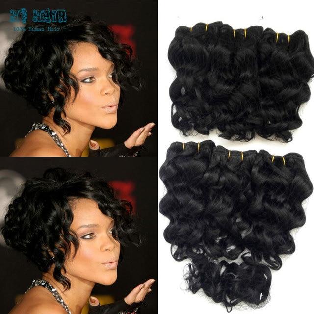 Cheap Bresilien Short Hair Weaving Bump Hair 6pcs Short Hair Weave