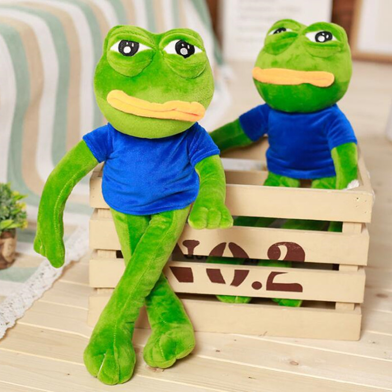 1009.89руб. 7% СКИДКА|Волшебное выражение Pepe Sad Frog 45 см мультяшная пена мягкие куклы подушка игрушки подарок для детей #980|Куклы| |  - AliExpress