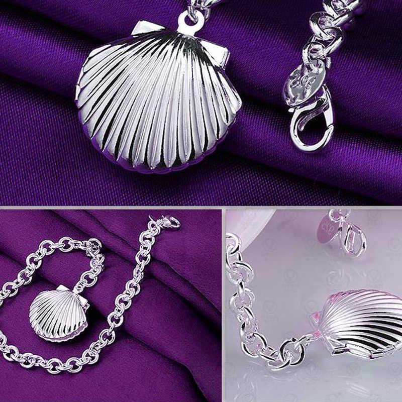 Charms Fashion Factory Price 925 Sterling Silver Chunky Chain Bracelet Shape Photo Locket Bracelets Elegant Fine Jewelry