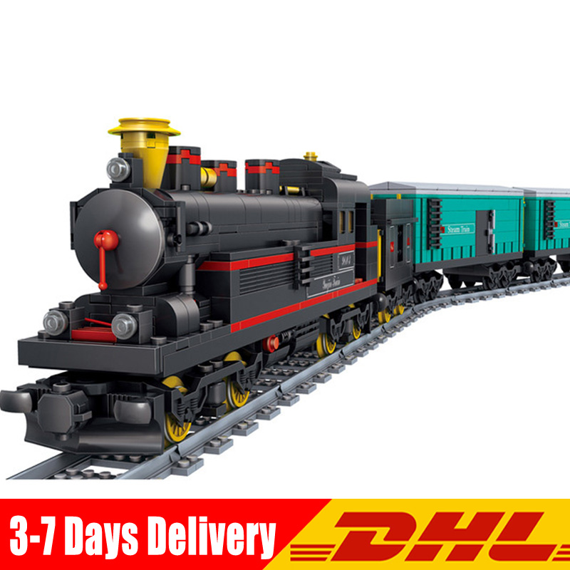 KaZi KY98103 821 Pcs China YUEJIN Train Electric Track Building Bricks Blocks Model Toys for Children Christmas New Year Gifts new building block simulation china yuejin train building blocks compatible major brand blocks educational toys for children