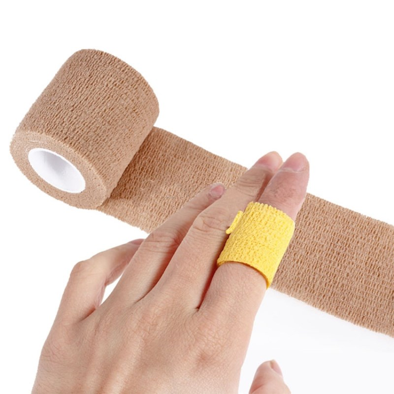 4 Rolls 2.5cm 5cm Self-Adhesive Elastic Bandage First Aid Medical Health Care Treatment Gauze Tape Arthrosis Finger Protective
