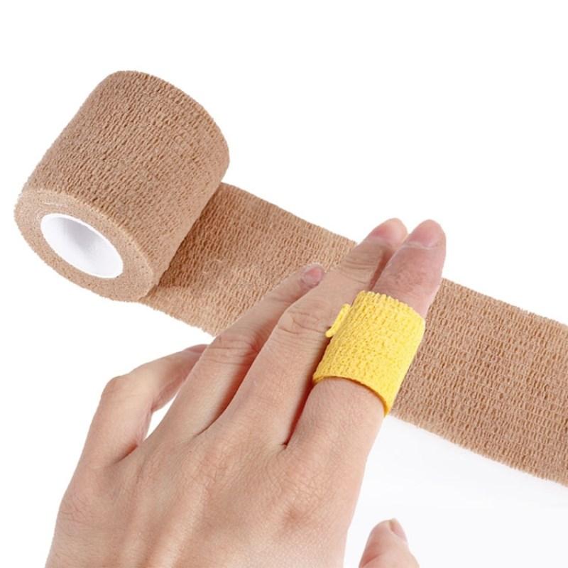 4 Rolls 2.5cm 5cm Self-Adhesive Elastic Bandage First Aid Medical Health Care Treatment Gauze Tape Arthrosis Finger Protective