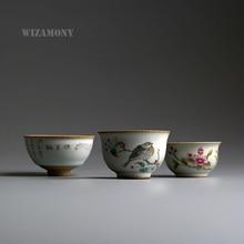 1 UNIDS Té Belleza Liquidación de Almacén Chino Ru Horno de Porcelana Gaiwan ChinaTeacups Tazón de Porcelana China Tetera taza de Té Celadón