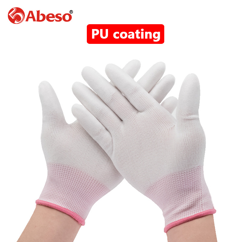 1Pair Working Safety Glove PU Coating Waterproof Oilproof Breathable Wear Resistant Repair Welding Farm Hand Protection Glove