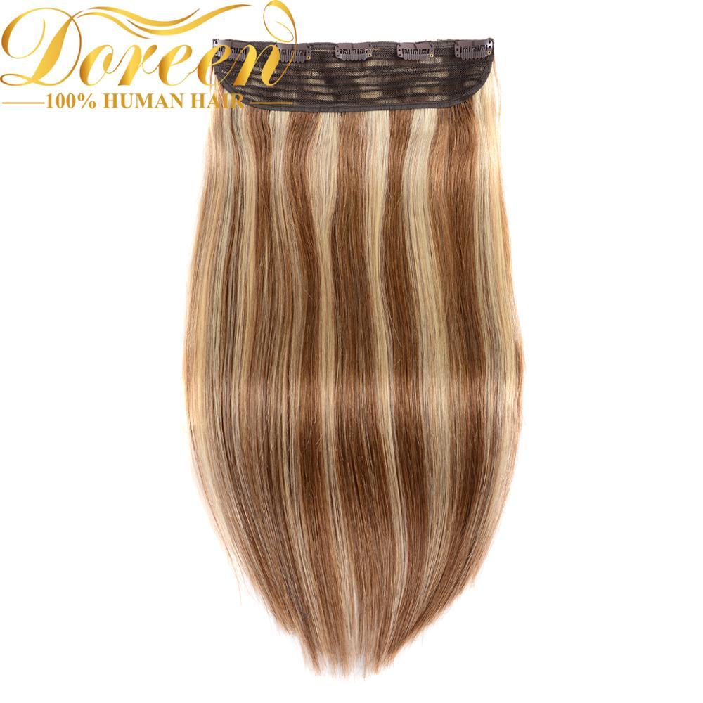 Doreen 150g 200g 1pc Brazilian Hair 18 to 26 Machine Made Remy Hair piece Straight Clip