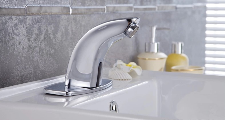 Touch less Automatic Electronic Basin Sensor Faucets Full Copper Tap Basin Faucet Sink Mixer water saving 100% copper cold and hot water mixer sense faucet automatic sensor faucets basin hand washer dc6v ac110 220v dona4215