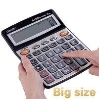 Grande escritório calculadora financeira escritório de voz humana cristal grande botão tela calculadora finanças calculadoras pequena calculadora|Calculadoras|   -