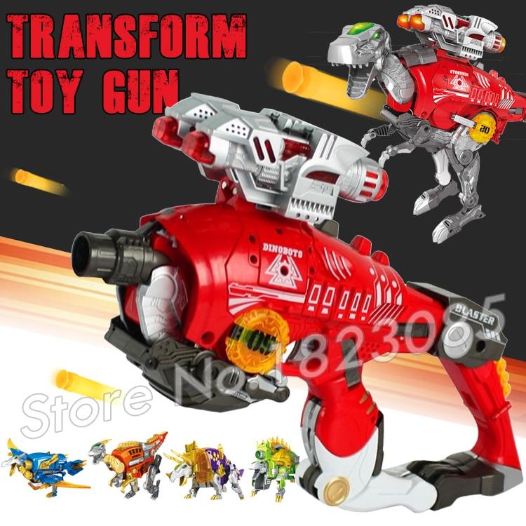 Jurassic World Toy Pistol Gun Soft Bullet Plastic Toys Guns Bursts Same as N-Strike Dinosaur Transformation Tyrannosaurus
