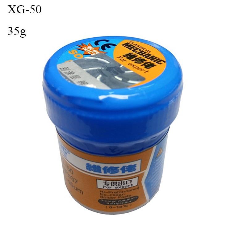 Liquid Flux Solder Paste Machanic XG-50 35g Leaded Welding Tool Low Temperature Melting Point 183 Degree Repair Soldering Flux