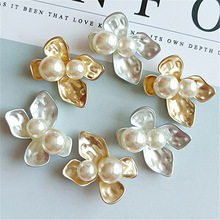 10 pcs lot Rhinestone Diamond Pearl Rabbit Buttons Alloy Diy Handmade Hair Accessories Necklace Mobile Beauty Key Ring jewelry cheap flatback Plating LT8-1 Brass Nickel-Free Eco-Friendly Metal Rhinestones Snap Button Buttons for jewelry accessories Rhinestone buttons for bridal brooches